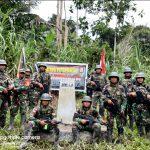Satgas Pamtas Yonif Raider 300/BJW Laksanakan Patroli Patok MM.4.A Perbatasan RI-PNG