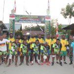 Merayakan HUT TNI Ke – 74, Satgas Yonif Raider 300 Gelar Turnamen Bola Volly