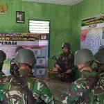 Danpos Waris Satgas Pamtas Yonif  Raider 300/BJW Melaksanakan Sweeping Di Pintu Lintas Batas RI-PNG